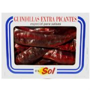 Spanish Hot Guindilla Peppers, Dried